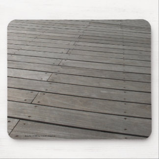 Wooden dock mouse pad