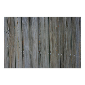 wooden dock planks with screws poster