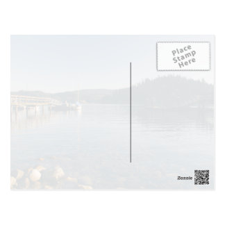 Wooden docks and shallow water postcard