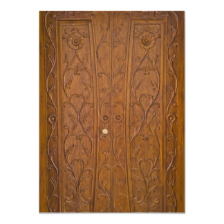 Wooden door card