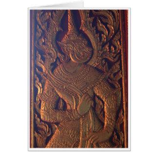 Wooden Door Carving Greeting Card