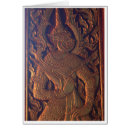 Wooden Door Carving Greeting Card