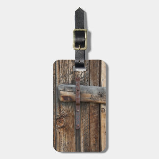 Wooden door close-up, California Bag Tag