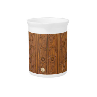 Wooden door drink pitcher
