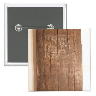 Wooden door from tomb of Khonsuhotep New Pinback Button