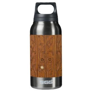 Wooden door insulated water bottle
