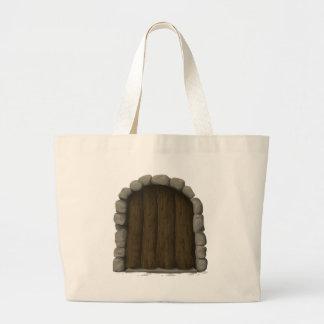 Wooden door large tote bag