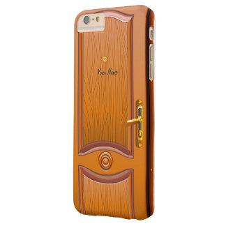 Wooden Door Look Barely There iPhone 6 Plus Case