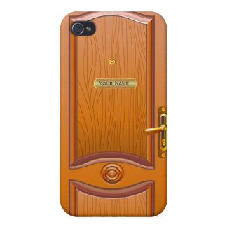 Wooden Door Look iPhone 4 Case.