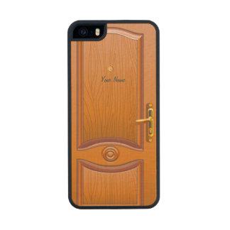 Wooden Door Look Carved® Maple iPhone 5 Case