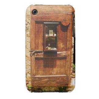 Wooden door of a house, Monteriggioni, Siena iPhone 3 Case
