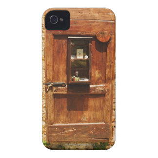 Wooden door of a house, Monteriggioni, Siena iPhone 4 Case-Mate Case