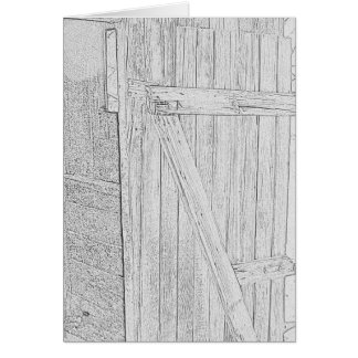 Wooden Door Sketch Card