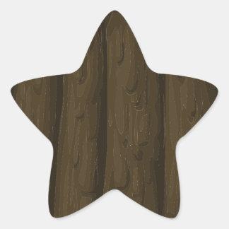 Wooden door star sticker