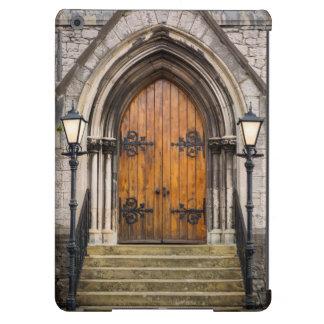 Wooden doors at entrance iPad air covers