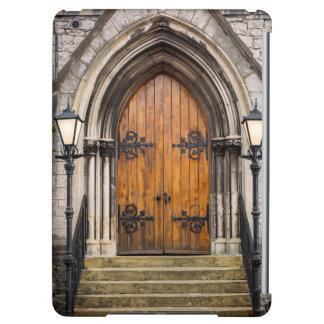 Wooden doors at entrance iPad air cover