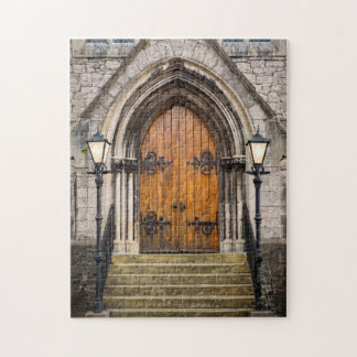 Wooden doors at entrance jigsaw puzzle