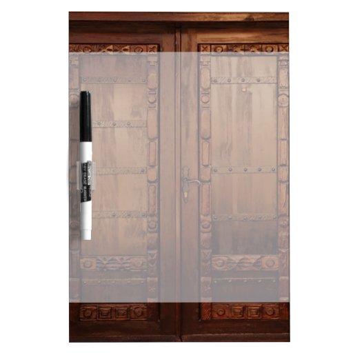 Wooden Doors Dry-Erase Board