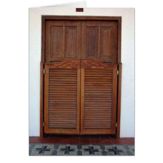Wooden Doors over Door Card