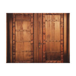 Wooden Doors Stretched Canvas Print