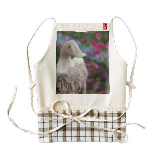 Wooden duck head with flowers zazzle HEART apron