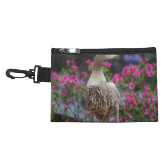 Wooden duck with flowers accessory bag