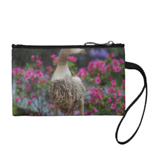 Wooden duck with flowers coin wallet