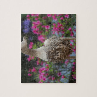 Wooden duck with flowers jigsaw puzzle