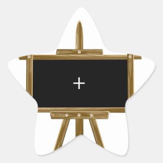 Wooden easel star sticker