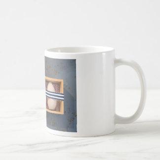 Wooden eggs in a box coffee mug