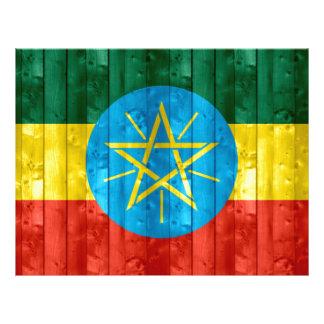 Wooden Ethiopian Flag Full Color Flyer