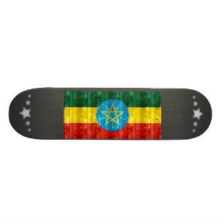 Wooden Ethiopian Flag Skate Board Deck