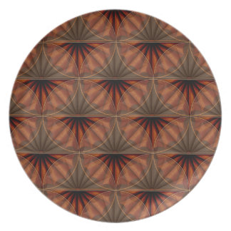 Wooden Fan Marquetry Party Plate