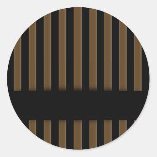 Wooden fence background classic round sticker