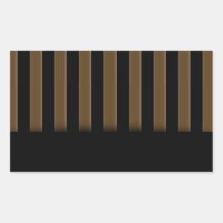 Wooden fence background rectangular sticker