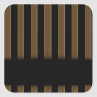 Wooden fence background square sticker