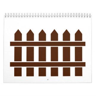 Wooden fence calendar