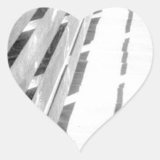 Wooden Fence - negative Heart Sticker