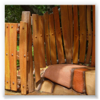 Wooden Fence Photo Backdrop Poster