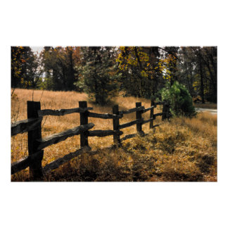 Wooden Fence, Provence,France Poster
