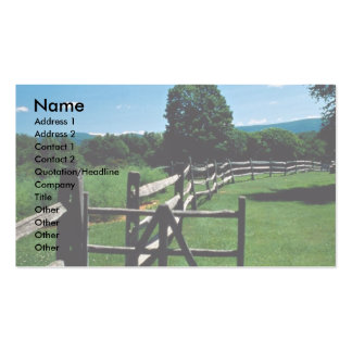 Wooden fence, Vermont, U.S.A. Business Card