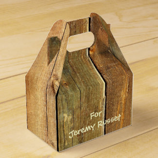 Wooden Fence - Write Your Own Text Favor Box