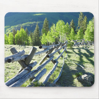 Wooden Fenceline Mouse Pad