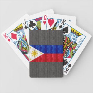 Wooden Filipino Flag Bicycle Playing Cards