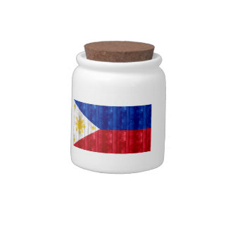 Wooden Filipino Flag Candy Dishes