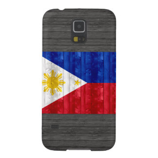 Wooden Filipino Flag Galaxy S5 Cases