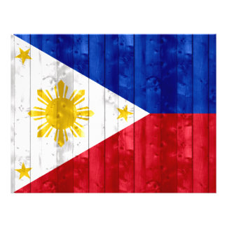 Wooden Filipino Flag Full Color Flyer