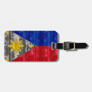 Wooden Filipino Flag Tags For Luggage