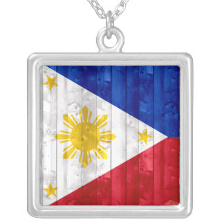 Wooden Filipino Flag Custom Jewelry