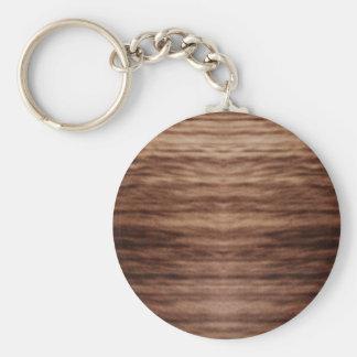 wooden finish key chain